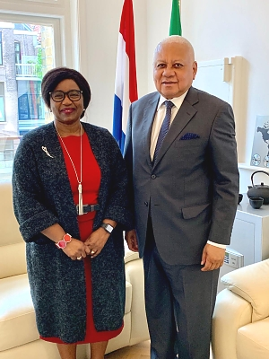 Former Chief Justice of Tanzania Hon. Chande Othman visits the Embassy - 2nd May 2019