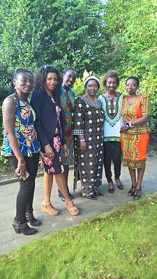 Ambassador Irene Kasyaju with TANE members celebrating Afica Day – 27 May 2017